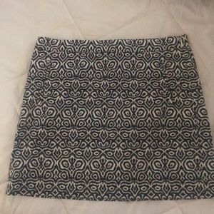 Tribal pattern mini skirt